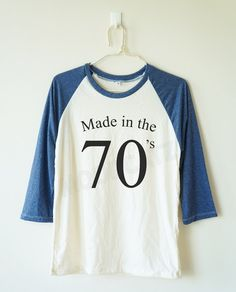 b04f7ae17cae5 Made in the 70 s tshirt birthday gift shirt funny gift by MoodCatz Baseball  Tee Shirts