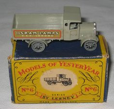 Lesney Matchbox Car Models of Yesteryear No 6 AEC Y Type Lorry w/ Box HR41