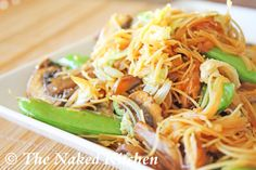 Chow Mei Fun (Stir Fried Noodles) - a yummy gluten free recipe that Samuel might like! Eager to try it. I wonder if he would eat it with baked spring rolls. Who says restricted diets have to be boring? Super Yum!!!