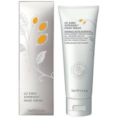 Liz Earle Superskin Hand Serum - best hand treatment ever. Hydrates and softens the hands like nothing else I've tried. Put it on at night followed by some cotton gloves, and wake up with beautiful soft smooth hands :-) Love this so much!
