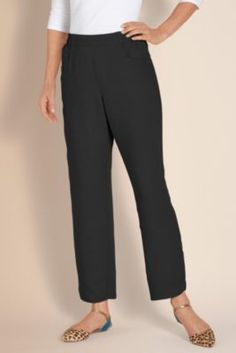 Softened Pant - Lightweight Linen Pant, Womens Comfort Pant, Soft Pull-on Pants   Soft Surroundings