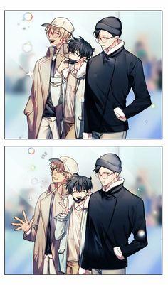 Magic Kaito, Conan Comics, Detektif Conan, Handsome Anime Guys, Cute Anime Guys, Manga Detective Conan, Anime Siblings, Detective Conan Wallpapers, Kaito Kid