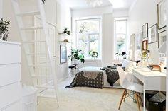 Woonideeen Slaapkamer Paars : Scandinavisch interieur slaapkamer parksidetraceapartments