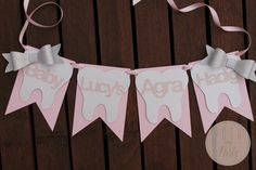TOOTH PARTY BANNER First Tooth Party Teething Party by PoshMyParty