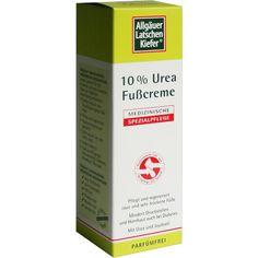 ALLGÄUER LATSCHENKIEFER 10 prozent Urea Fußcreme:   Packungsinhalt: 100 ml Creme PZN: 06064828 Hersteller: Dr. Theiss Naturwaren GmbH…