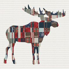Bring the feel of the outdoors in with our mighty moose quilt. Customize the fabrics and colors to match any nursery or decor. You can add customized text for a name, place or date to make the perfect Moose Quilt, Plaid Quilt, Tie Quilt, Scrappy Quilts, Baby Quilts, Quilting, Man Cave Quilts, Canadian Quilts, Quilts Canada