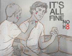 Sherlock - Its all fine, NOH8 by thenizu.deviantart.com on @deviantART- Oh, wow! This is fantastic!