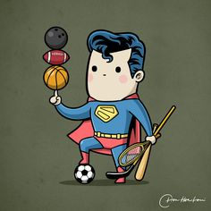 This Artist Pairs Each Superhero To A Sport That Perfectly Utilizes Their Powers