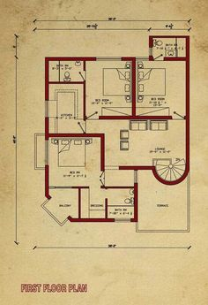 Trendy ideas for house plans one story 2000 sq ft india 5 Marla House Plan, 2bhk House Plan, 3d House Plans, Indian House Plans, Model House Plan, House Layout Plans, Duplex House Plans, House Plans One Story, Best House Plans
