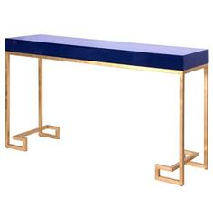 DaVinci Hollywood Regency Navy Blue Gold Console Table. Love the colors.....now  if I could just love the price