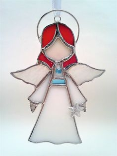 Stained Glass Angel Sun Catcher/Ornament Customizable
