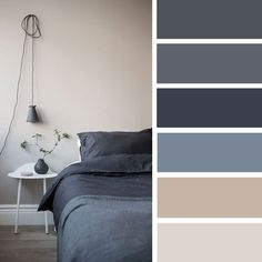 Charcoal Blue color palette for bedroom decor #bedroom #colorpalette #colorscheme