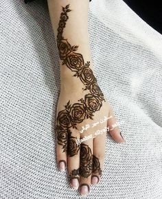10 Stunning Rose Mehndi Designs for all occasions Rose Mehndi Designs, Henna Tattoo Designs Simple, Arabic Henna Designs, Bridal Henna Designs, Unique Mehndi Designs, Beautiful Mehndi Design, Mehndi Design Images, Latest Mehndi Designs, Mehndi Designs For Hands