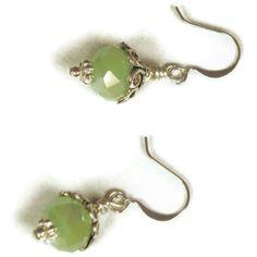 Mint green dangle earring everyday earrings by MiSuenos on Etsy, $6.00