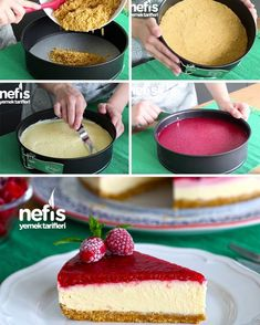 A Delicious Recommendation for Your Weekend Try Uncooked Cheesecake Recipe by Elif Atalar ? Ingredients Cheesecake Base A Delicious Recommendation for Your Weekend Try Uncooked Cheesecake Recipe by Elif Atalar ? Ingredients For Cheesecake, Perfect Cheesecake Recipe, Baked Cheesecake Recipe, No Bake Cheesecake, Recipe Ingredients, Yummy Recipes, Easy Cake Recipes, Dessert Recipes, Yummy Food