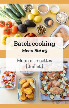 Batch cooking (menu and recipes) for the week of July 29 to August 2019 Cooking For A Group, New Cooking, Batch Cooking, Cooking Tips, Cooking Recipes, Skillet Recipes, Italian Cooking, Cooking Videos, Easy Healthy Recipes