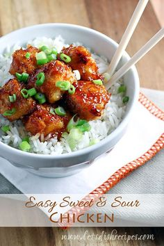 Simple Sweet and Sour Chicken | Thy get take-out for dinner when making yourself is so easy? #recipe