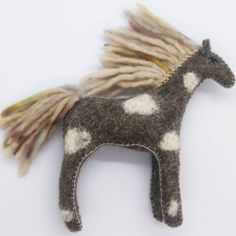 Blue Horse, Appaloosa Horses, Natural Toys, Pattern And Decoration, Toddler Gifts, Beautiful Horses, Gifts For Girls, Needle Felting, Wool Felt