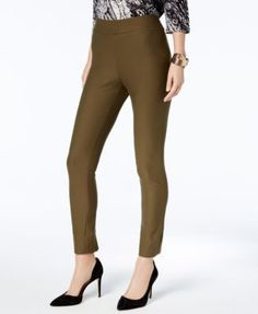 Eci Pull-On Straight-Leg Pants - Black/White Stripe XXL