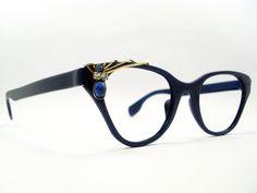 Vintage Eyeglasses Frames Eyewear Sunglasses 50S: VINTAGE CAT EYE GLASSES TURA FRAME EYEGLASSES EYEWEAR SUNGLASSES