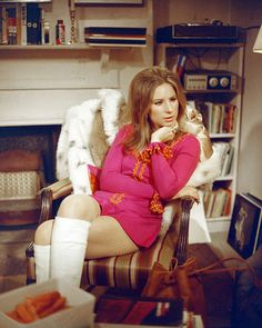 American actress Barbra Streisand as Doris in 'The Owl And The Pussycat' directed by Herbert Ross 1970