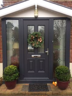 "Palladio Composite ""Palermo"" Door in Anthracite Grey"