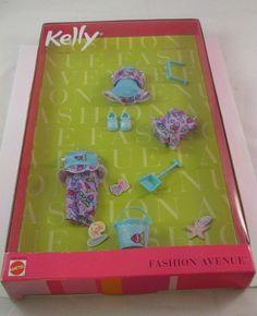 Barbie Kelly Fashion Avenue Clothes Beach Fun Toys Bathing Suit 25754