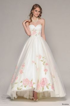 Eugenia Couture Fall 2016 Wedding Dresses / http://www.deerpearlflowers.com/floral-wedding-dresses/