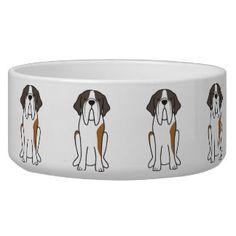 Saint Bernard Dog Cartoon Bowl