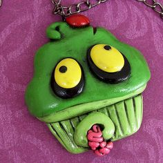 another zombie cupcake  fimo sculpey polymer clay