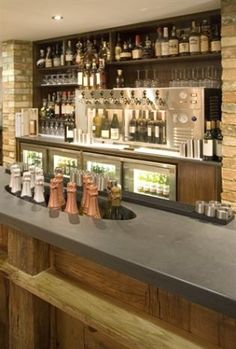 Makers of slate bar tops 50mm bar with inset for bottles