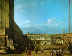 Giovanni Antonio Canal (called Canaletto),Venice: Piazza San Marco Towards S. Geminiano oil painting reproductions for sale