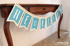 Printable: Free Easter Banner Doing this this year! I printed it and it's beautiful!