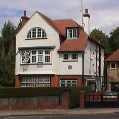 Evelyn Waugh author of Brideshead Revisited lived here, 145 North End Road, London NW!!,