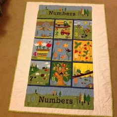 Back of the baby boy quilt.  Patti Tahash