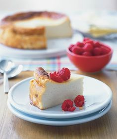 Ricotta Cheesecake: Recipe courtesy of Rosemary Stanton from Healthy Eating for Australian Families Ricotta Cheesecake, Cheesecake Recipes, Lunch Menu, Vegetarian Cheese, Low Sugar, Nut Free, Cheesecakes, Easy Meals, Easy Recipes
