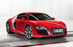 Glamourous Showroom Red Audi R8! Double click on this sexy R8 for your chance to win a supercar experience #Amazing