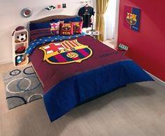 Barcelona Juego de Colcha Edredon Futbol Soccer Comforter Blanket Set | eBay