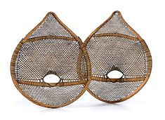 Cree Child's Bear Paw Snowshoes late 19th century