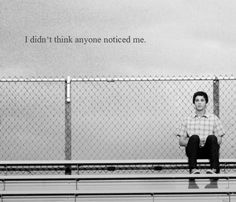 "Logan as Charlie in ""The Perks of Being A Wallflower"": I didn't think anyone noticed me."