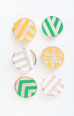 DIY Coasters DIY Painted Wooden Coasters DIY Coasters