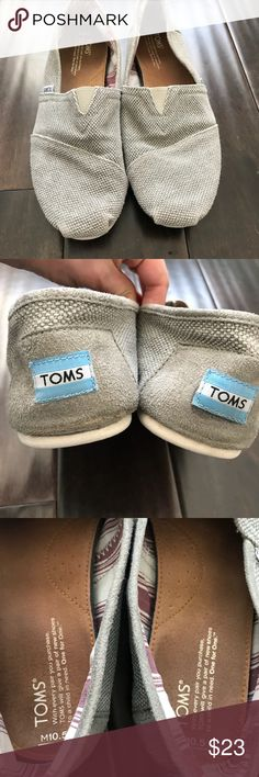 Toms Men's Grey Shoes Size 10.5 Good preowned condition  Innersole is clean Some wear to outsole Color: grey Size: 10.5 Men's Toms Shoes