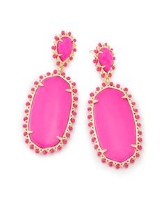 Parsons Statement Earrings In Magenta - Kendra Scott Jewelry