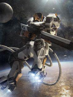 Orbital sniper advanced, Geoffroy Thoorens on ArtStation at http://www.artstation.com/artwork/orbital-sniper-advanced