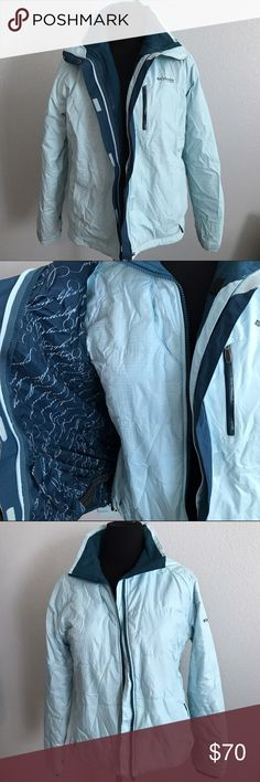XL Columbia 3-in-1 Winter Jacket Interchangeable system. Waterproof outer with elastic band on inside to keep you warmer. Fleece inner. The 2 jackets zip together for extra warmth. Worn once Columbia Jackets & Coats