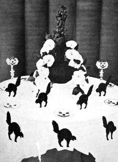 Book of Halloween 1919: cat and pumpkin decorations