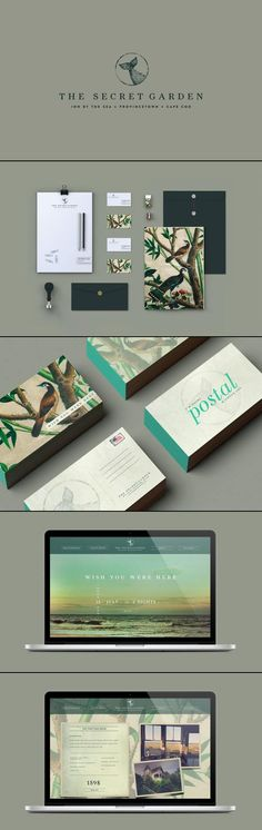 the secret garden identity speaks for it i especially love the teal edges of the business cards by christian allegra poschmann