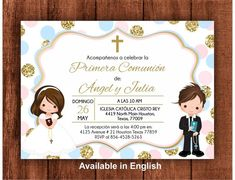 79 Best First Communion Invitations Images First Communion