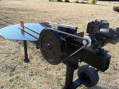 Home Built Flywheel Log Splitter