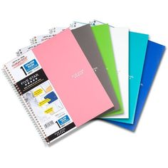 Five Star Wirebound Notebook, 1-Subject, 100 College-Ruled Sheets, 11... ($17) ❤ liked on Polyvore featuring home, home decor, school, fillers, books, other, school supplies, wirebound notebook, teal blue home decor and teal home decor